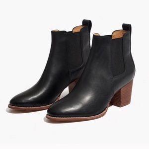 Madewell Regan Black Leather Boots 6
